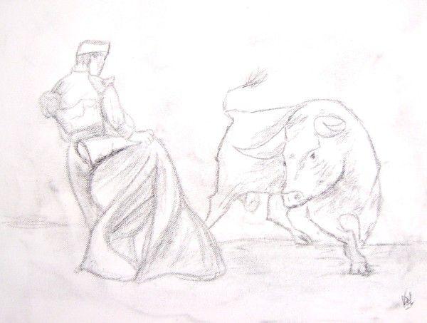 Croquis toro esquisse - Dessin de toro ...